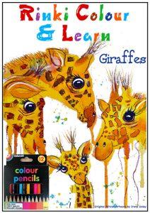 Book. Colour & Learn. Giraffes